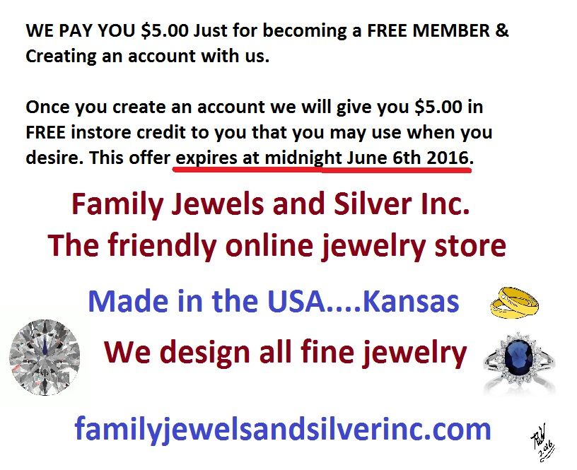 Create a FREE Account at Family Jewels