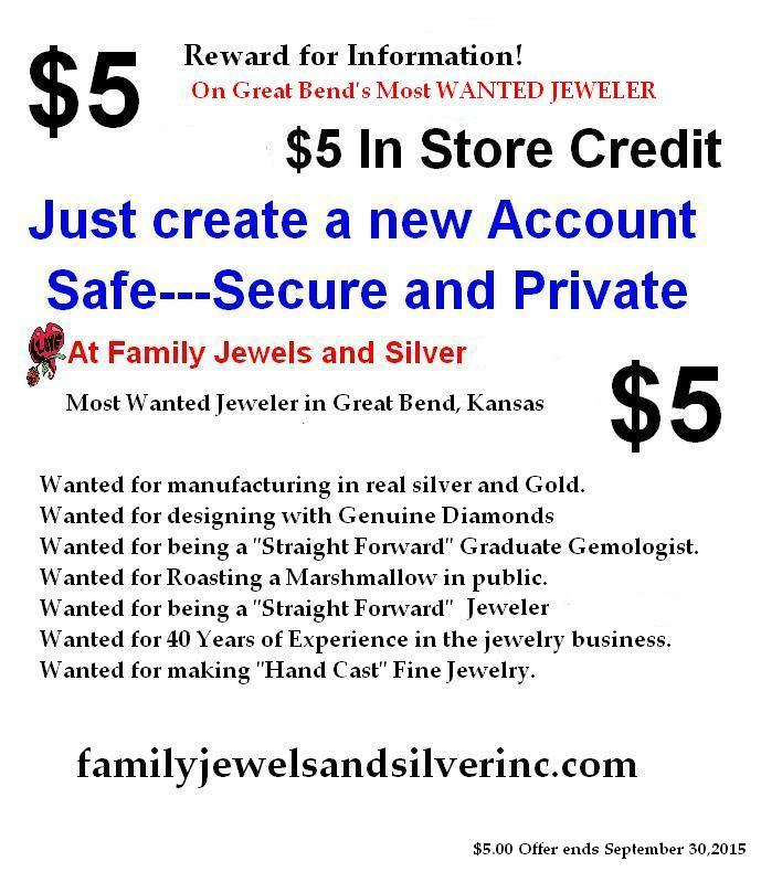 FREE $5 in store credit from family Jewels