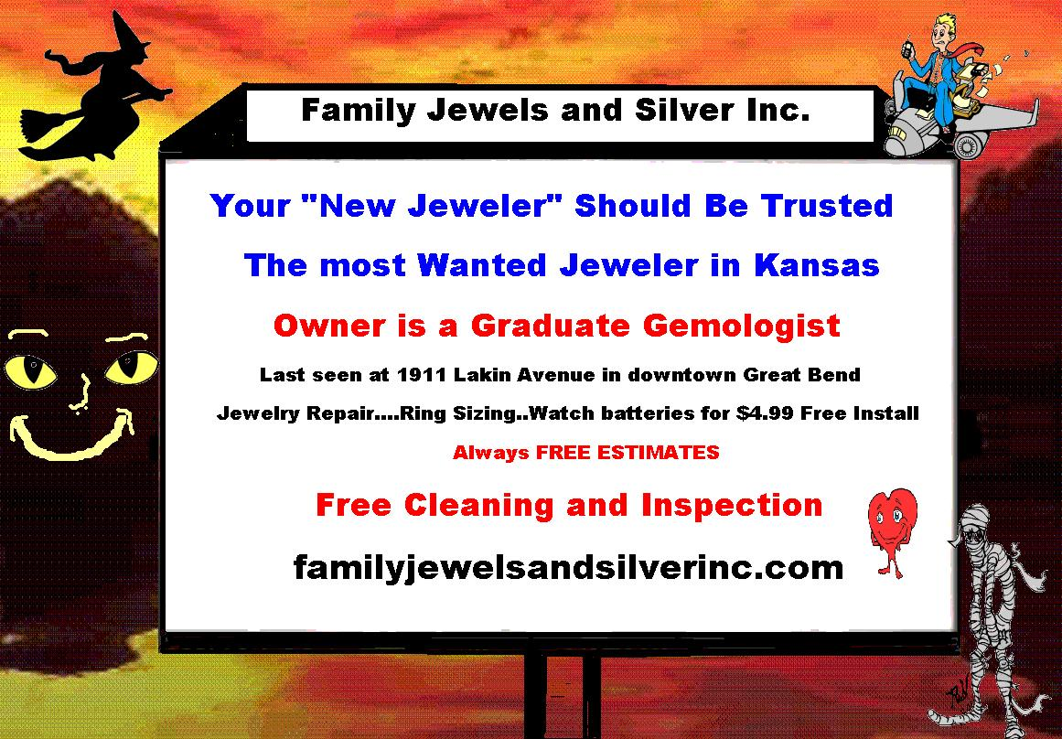 Most wanted jeweler in Great Bend, Kansas