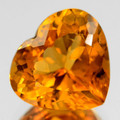 Natural Citrine Heart Shape Lot of 4 Stones AAA Quality 8mm