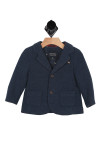 front of jacket has collar with 2-button front and pockets