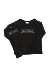 """front of black sweatshirt shown with matching """"Rule Breaker"""" jumper for babies."""