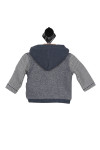 back shows two toned sweater with hood