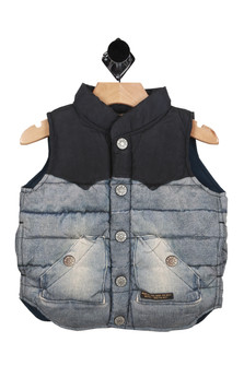 Puffy vest,denim, cozy
