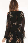 back of dress shows keyhole opening at top back.