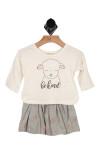 2 piece, sheep, skirt, shirt