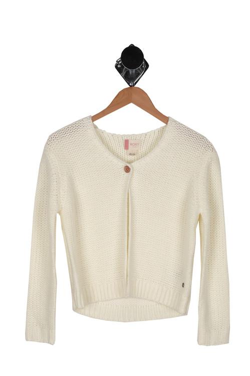 Marshmellow, sweater, roxy, single button