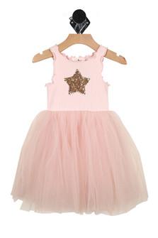 Star, tutu, dress, pink