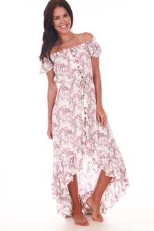 Riviera Off The Shoulder Maxi Dress