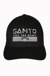 Santo, Hat, Cap embroidered, black, white,, a little teal