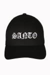 Santo, black, old English, hat