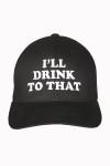 I'll drink to that,baseball  cap, black, santo