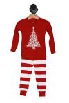 Set, Pajamas,, red, white, christmas tree and glow
