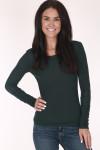 Long sleeve, soild green, soild maroon, soild white, layered sleeves
