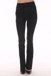 back shows back pockets with faded black denim color