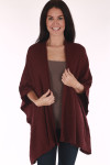 Cape, oversized sleeves open front, oversized, comes in black or burgundy, knitted