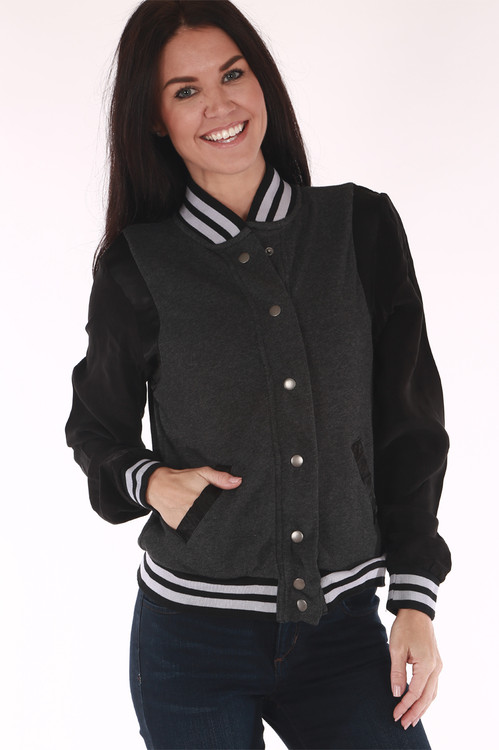 bomber jacket, lined  trim