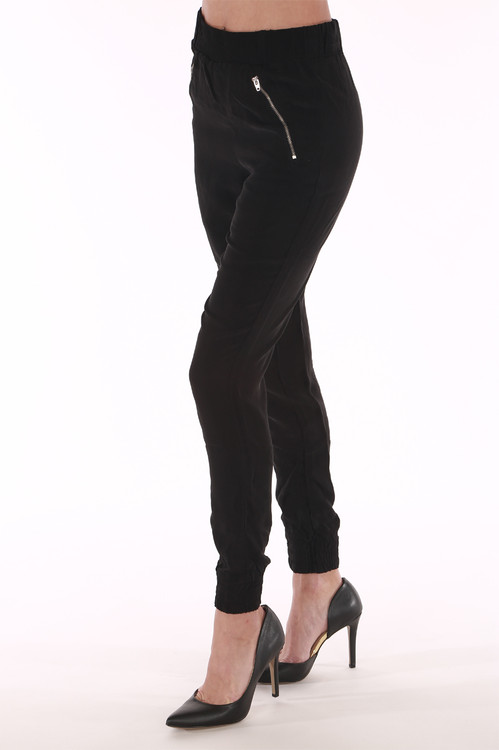 Zippy, legging, black, jogger, cuffed bottom