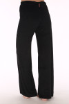 Velour Pants, wide leg, black, velvet, sweats