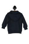 quicksilver hoodie, blue, cuffs, navy blue trim