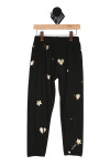 sweats black comfy and soft, hearts and diamonds falling