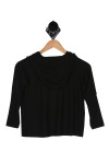 Oversize, pullover, black and gold designs over size hood solid black back.