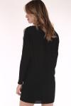 little black, dress, beaded, trim, flowy