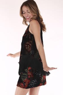 fringed, floral ,shirt , romantic, velvet