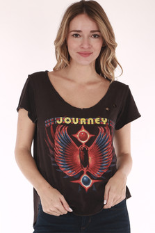 Journey band, black shirt
