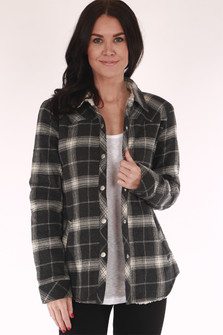 flannel, jacket, button up