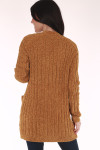 open front, cardigan, golden or black, long sleeves