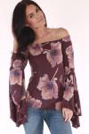 Large bells, floral, purple, long sleeves