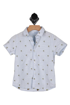 Mini Palm Tree Button Up Shirt (Toddler/Little Kid)