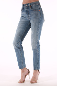 Distressed 501 Skinnies