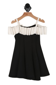 Black Tie Off The Shoulder Dress (Little Kid)