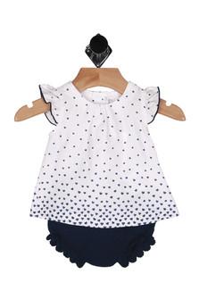 Mini Hearts Blouse w/ Bloomers Set (Infant)