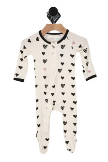 Hearts All Over Footie (Infant)