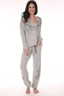 Birds & Flowers Pajama Set
