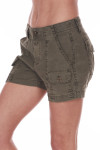 Sideshows sea green cargo trouser shorts with 4 pockets.