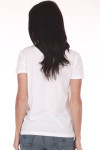 back shows classic fit white tee