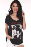 Front shows short sleeve black tank tee with George Michael photo and words shown.