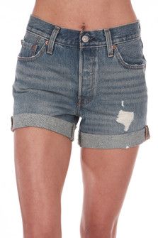 Cuffed Long 501 Denim Shorts