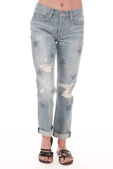 Riley Star Cropped Relaxed Jeans