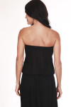 back shows strapless top and all black back.