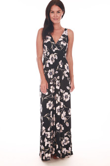 Low V-Cut Maxi Dress