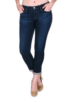 Stilt Cigarette Roll-Up Jean Dk blue denim basic jean  for more detail contact toll free 855-597-0313