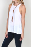LA Nite Tank flare bottom tank in White for more detail contact toll free 855-597-0313