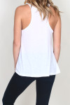 LA Nite Tank back is racer back flare bottom tank in White for more detail contact toll free 855-597-0313