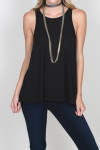 LA Nite Tank flare bottom tank in black for more detail contact toll free 855-597-0313