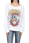 Brenna Grateful Dead Vintage Pullover Sweater L/S white sweater with Grateful Dead Bear in a skull logo for more detail contact toll free 855-597-0313
